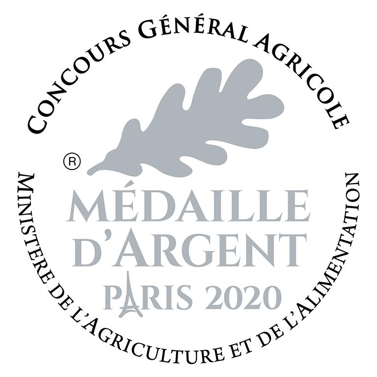 Médaille d'argent 2020 au Concours Général Agricole de Paris