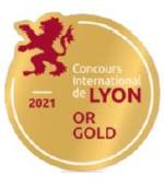 Médaille d'or 2021 au Concours International de Lyon