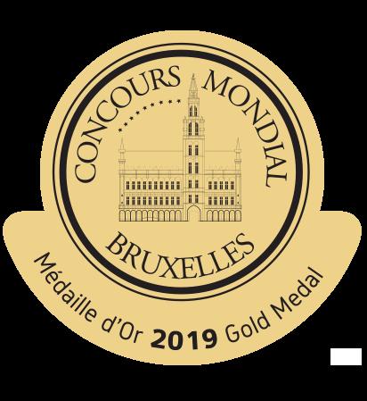 Médaille d'or 2019 au Concours Mondial de Bruxelles