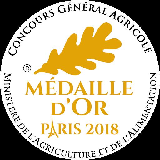 Médaille d'or 2018 au Concours Général Agricole de Paris