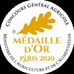 Médaille d'or 2020 au Concours Général Agricole de Paris