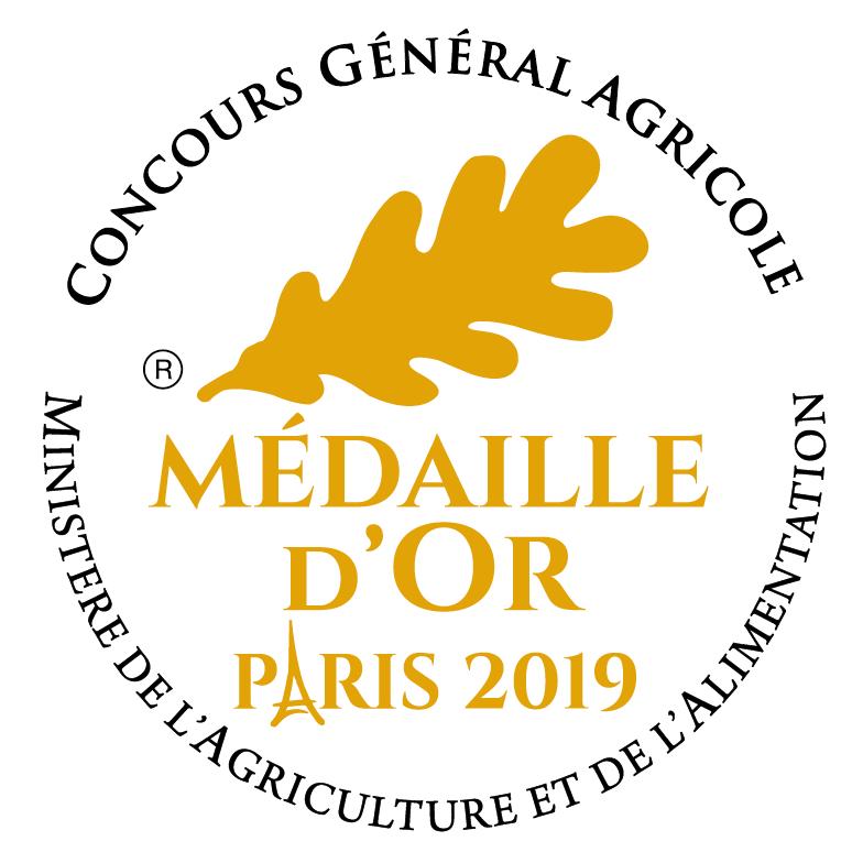Médaille d'or 2019 au Concours Général Agricole de Paris